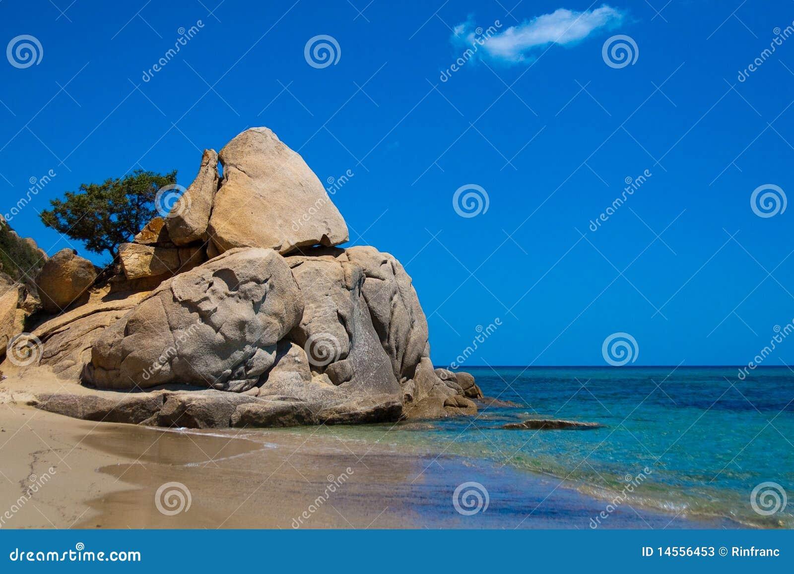 A rock on the Costarei beach