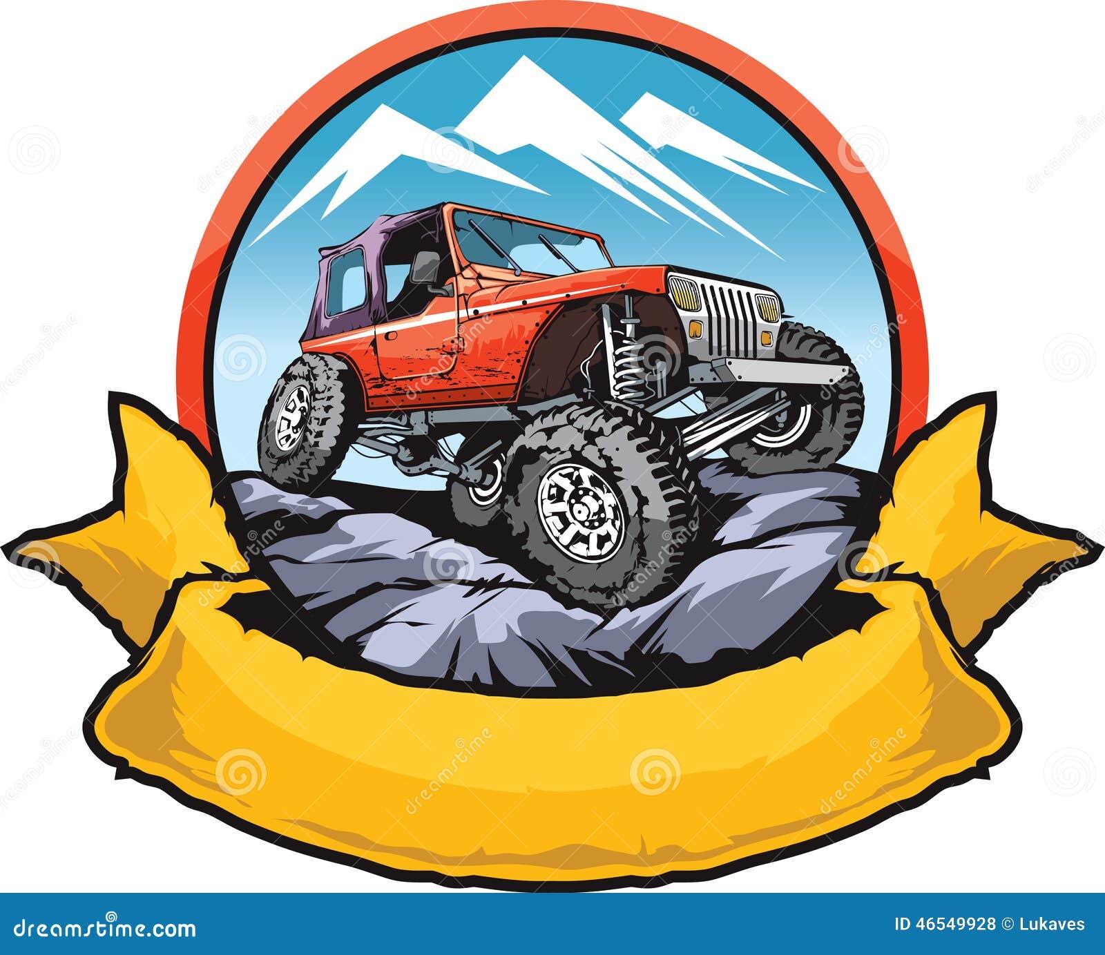 Rock Crawler Art : Rock crawling car stock vector illustration of graphic