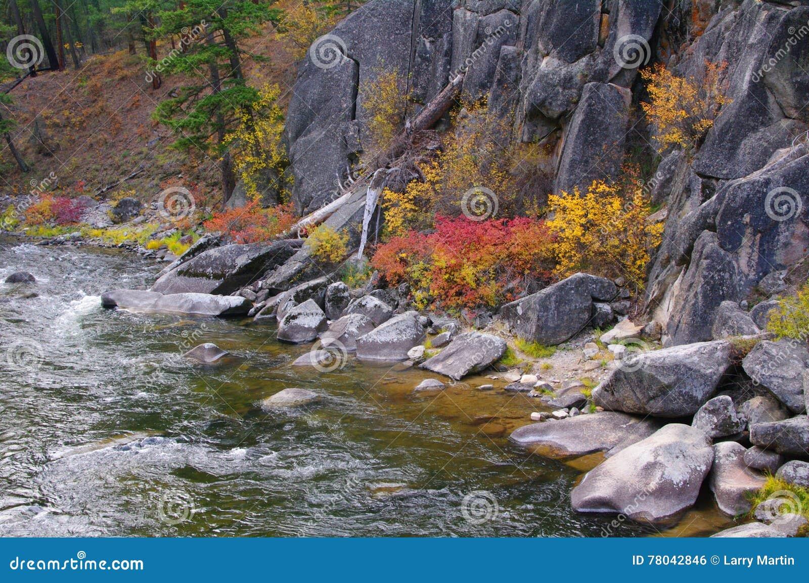 Sapphire Mountains Montana Map.Rock Creek Sapphire Mountains Stock Photo Image Of Montana Fall