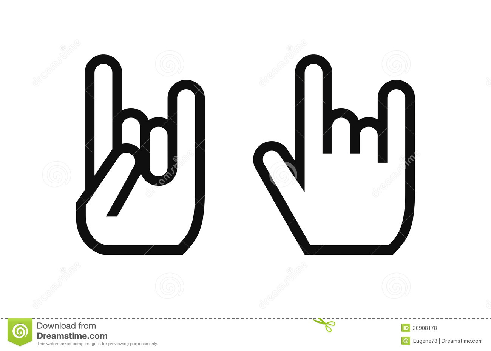 Rock culture symbol stock vector illustration of fingers 20908178 rock culture symbol buycottarizona