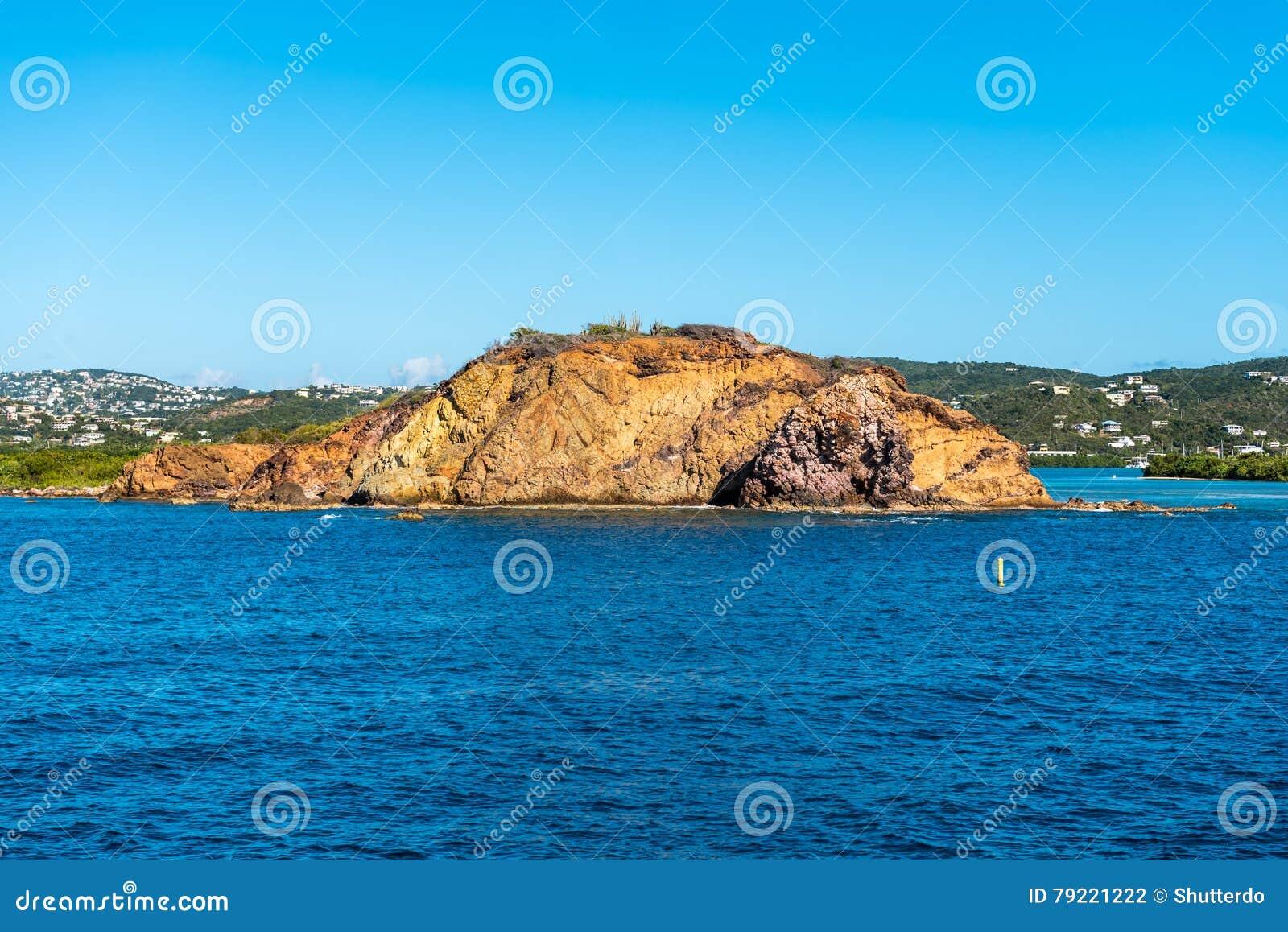 Rock formation in Caribbean Sea