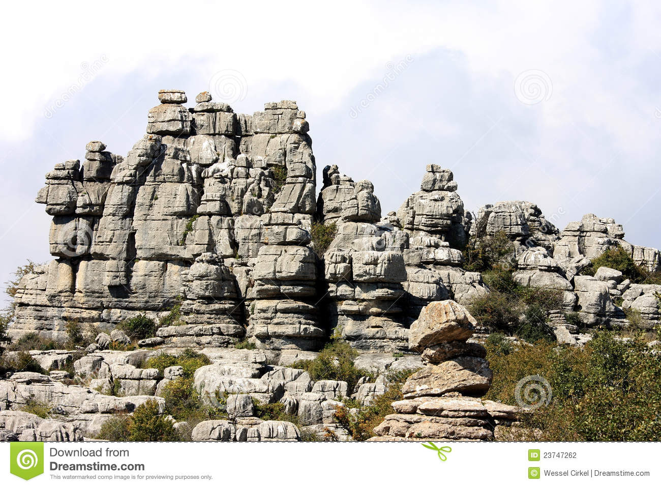 Rock Formation In El Torcal Park, Spain, Andalusia Stock ...