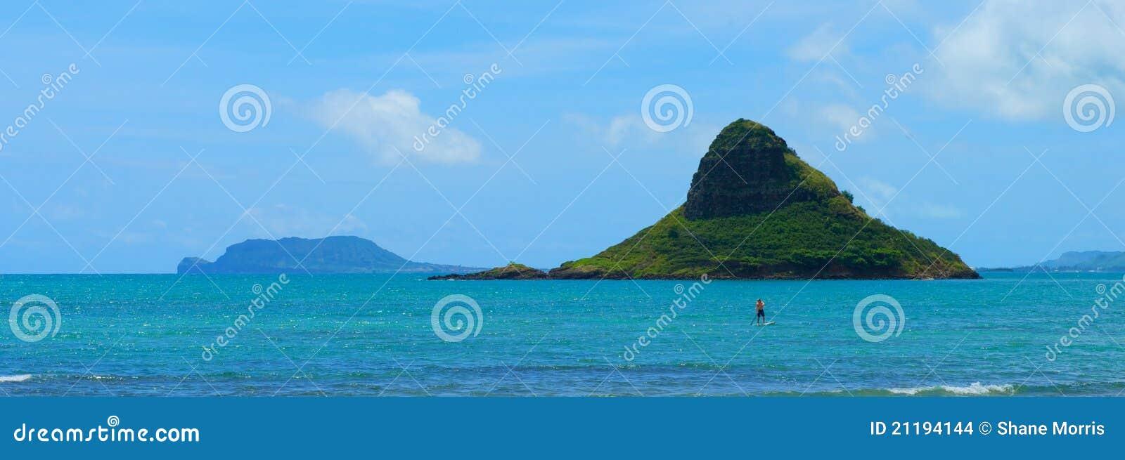 Rock Formation Off the Coast of Ohau, Hawaii