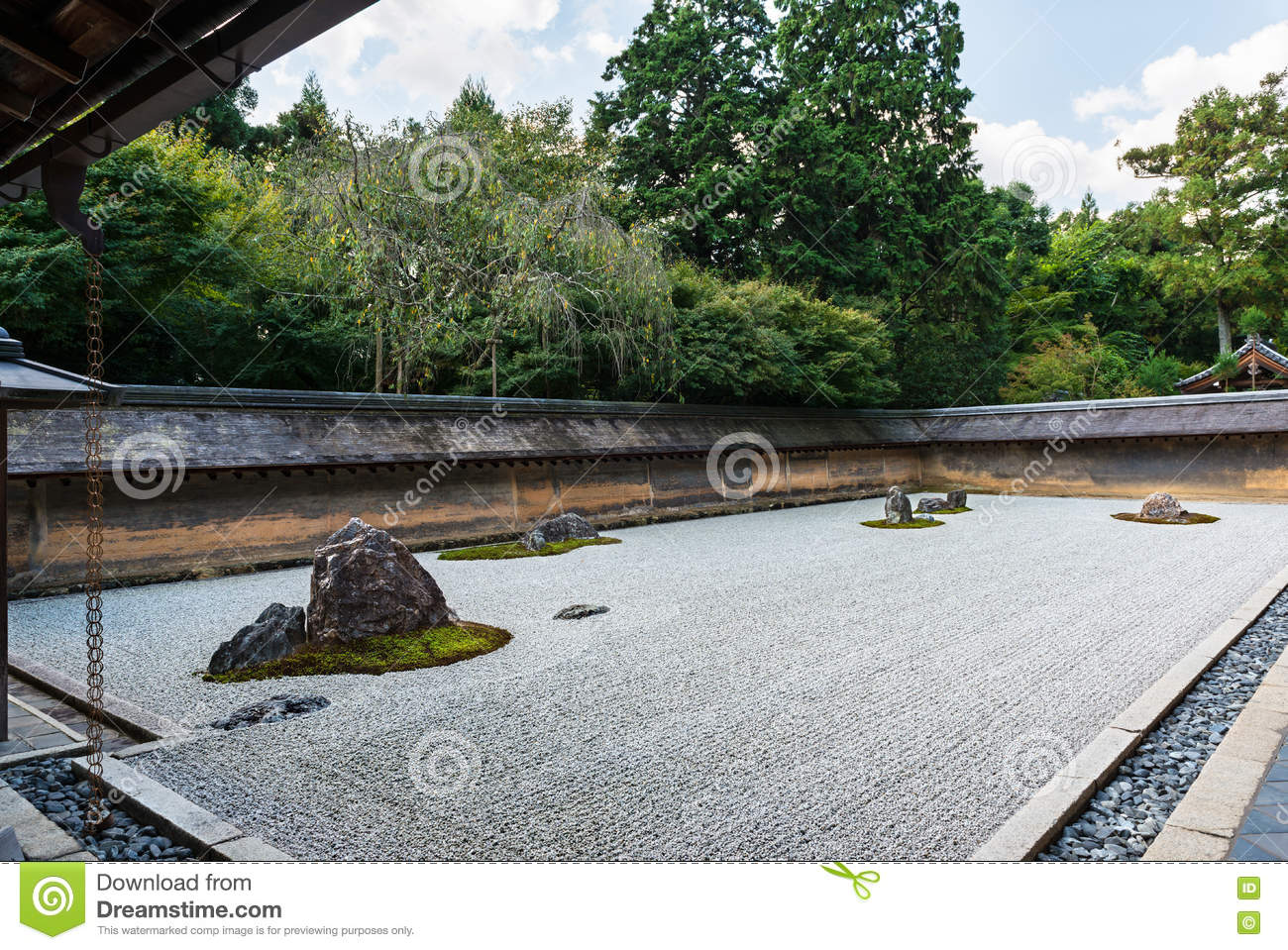 Giardino Zen Ryoanji : Rock garden at ryoanji temple in kyoto japan stock image