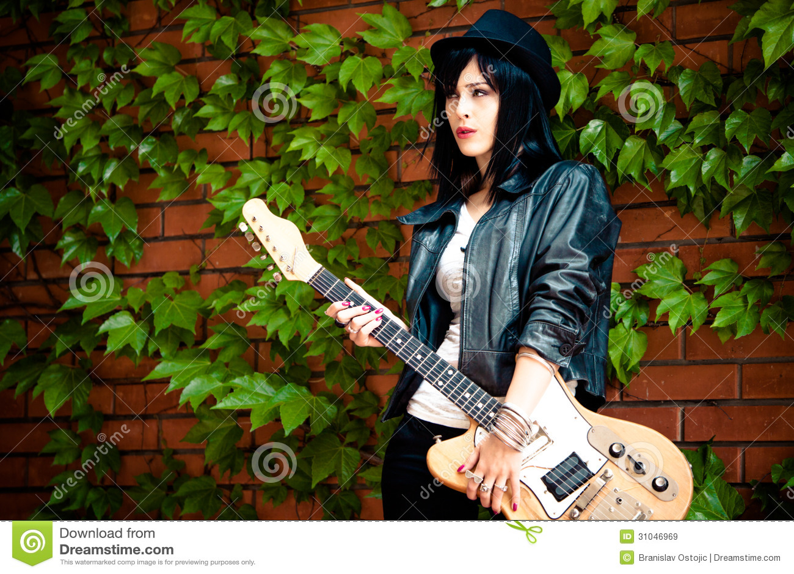 Rock Girl Stock Image Image Of Stand Plant Orange 31046969