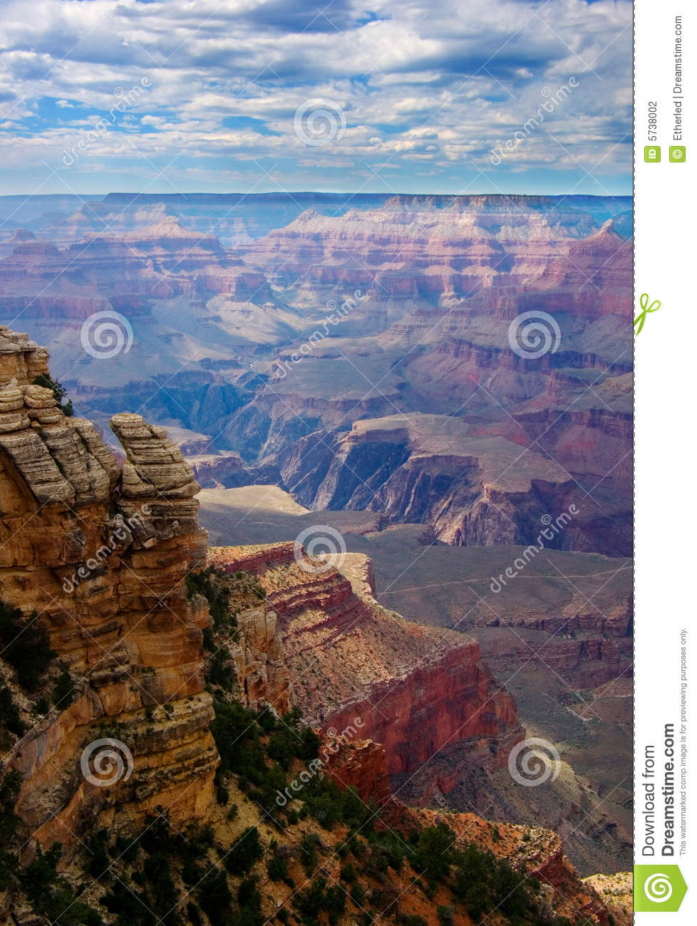 Rock in Grand canyon