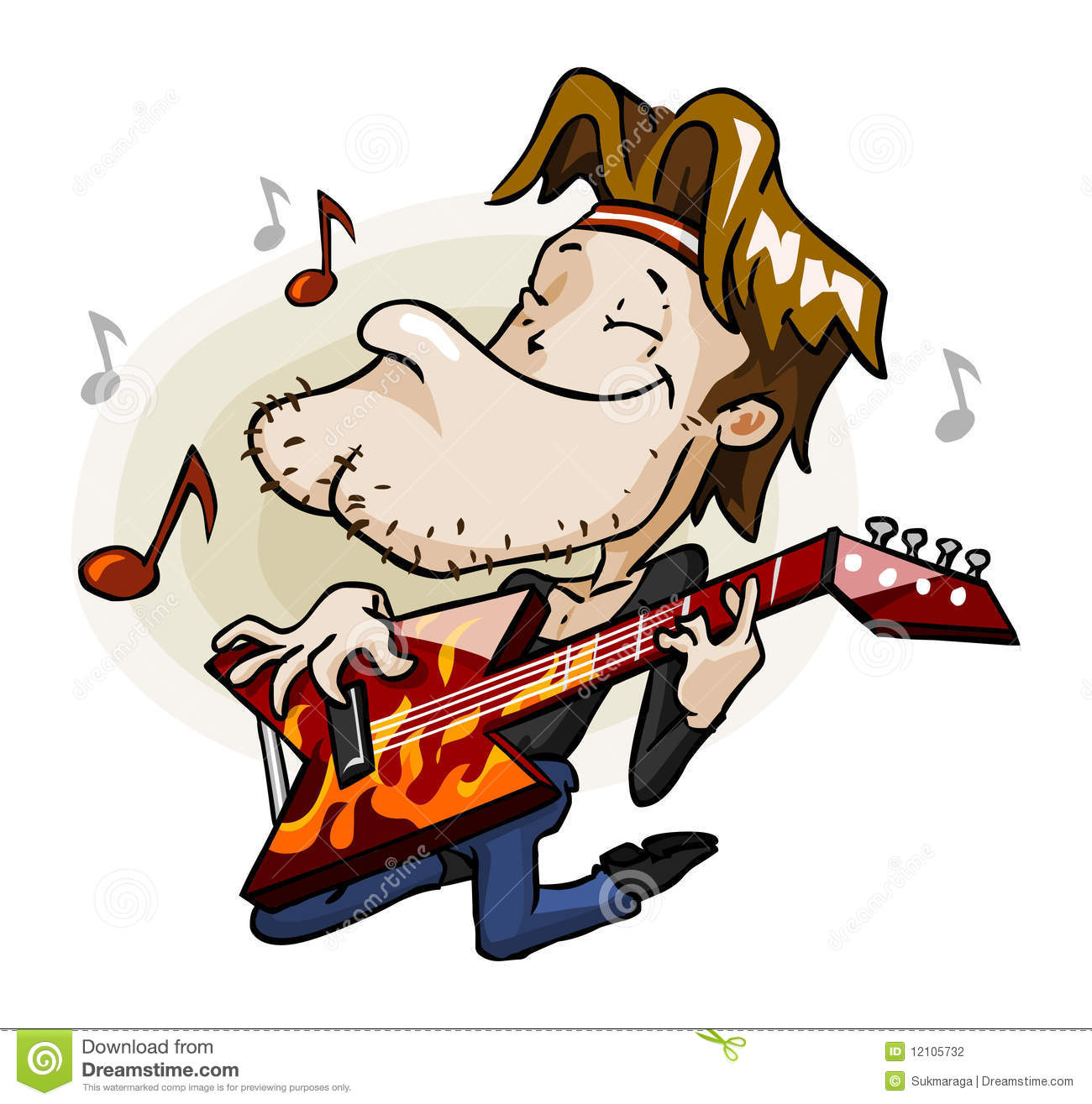 rock guitarist on stage stock photography image 12105732