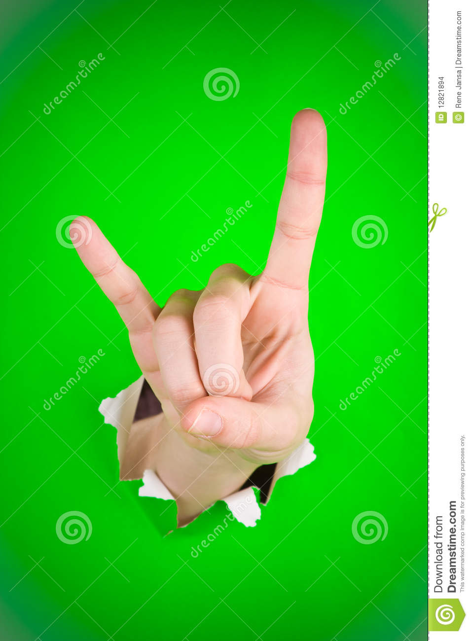 Rock On Hand Sign Stock Images - Image: 12821894