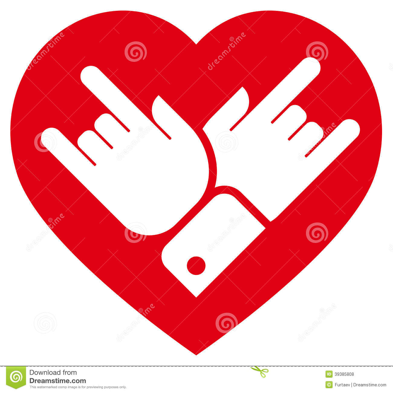 rock in heart icon stock vector image 39385808 rock & roll clipart free rock and roll clipart images