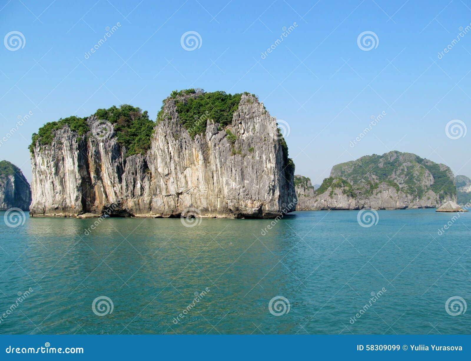 Rock island in the sea