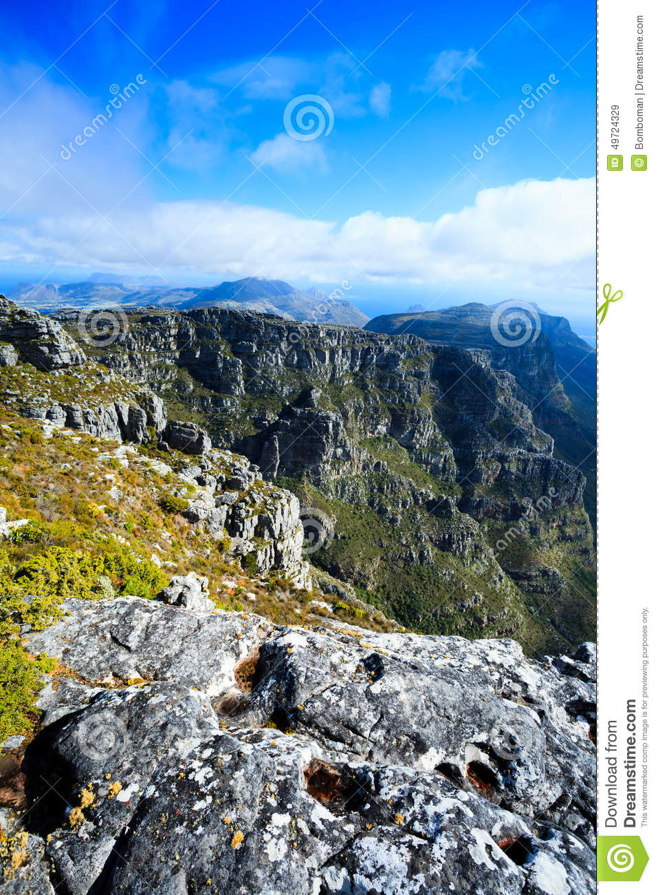 Beautiful landscape of the cape town with famous table for Landscaping rocks cape town