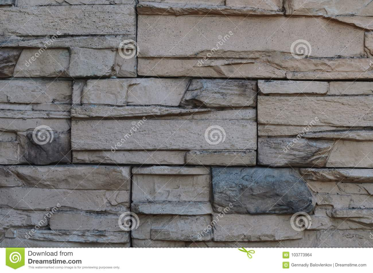 Rock and marble wall texture background. top view