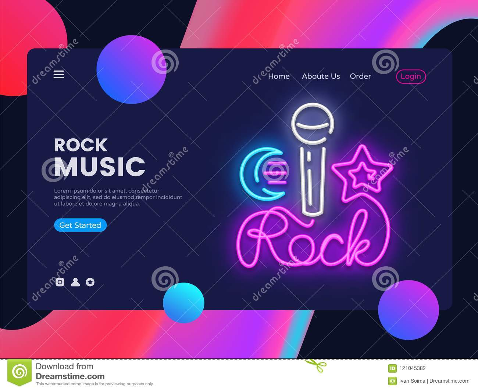 rock music banner design template vector rock star web banner