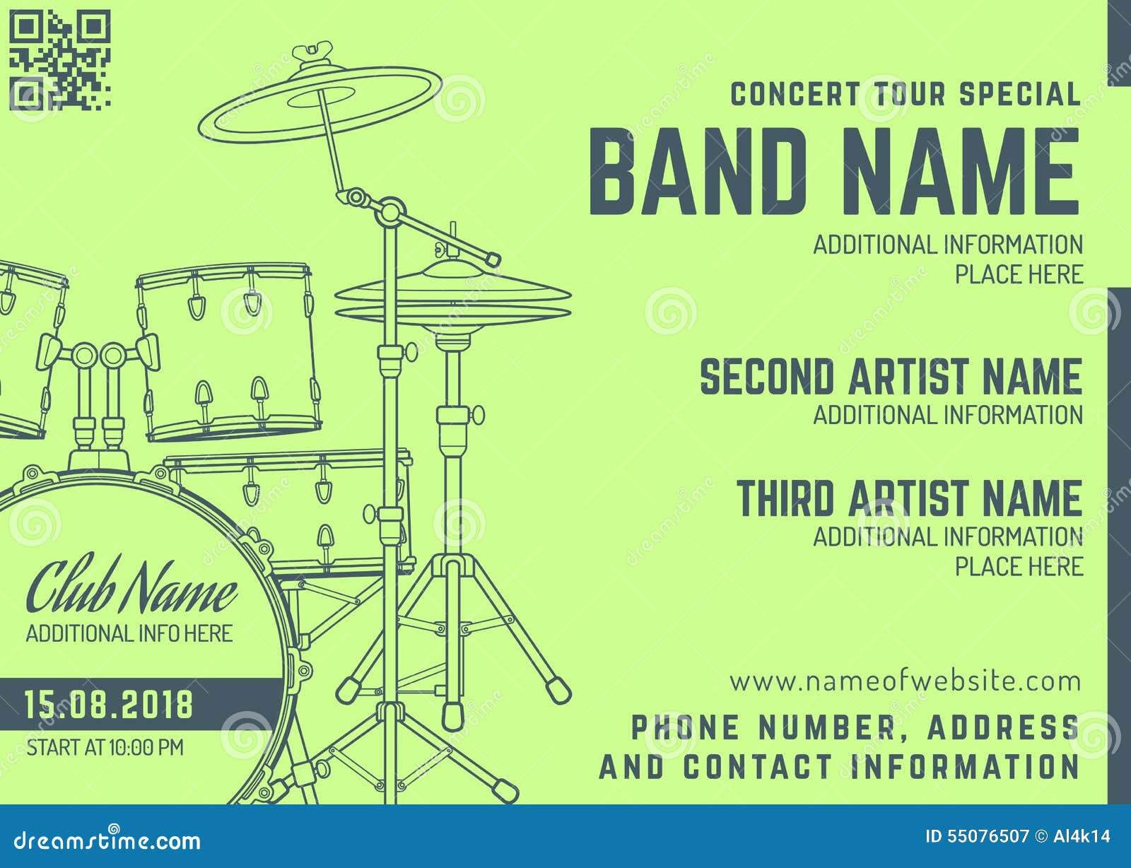 concert program template free