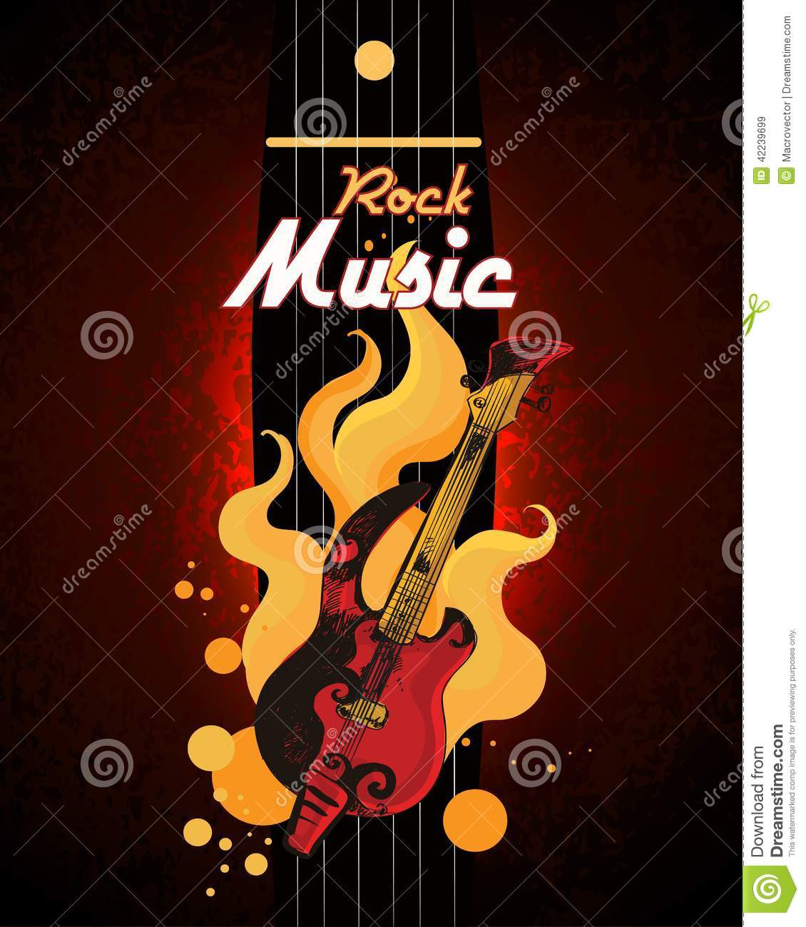 Rock Music Poster Stock Vector - Image: 42239699