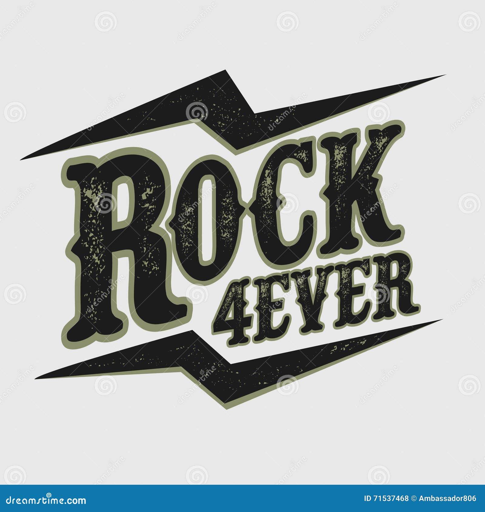 rock music print stock vector  illustration of music