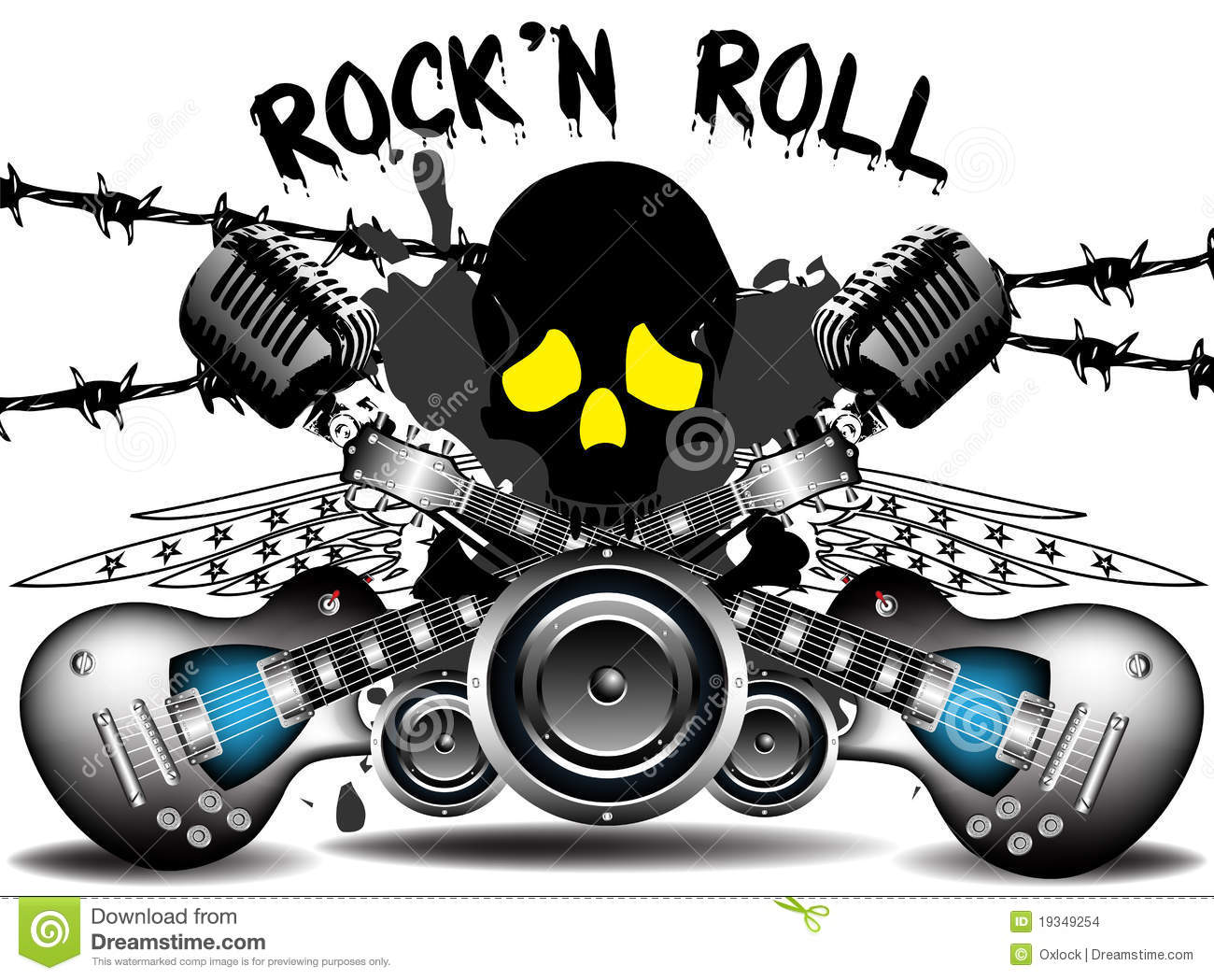 ... , barbed wire, wings and powerful loudspeakers. Rock'n Roll concept