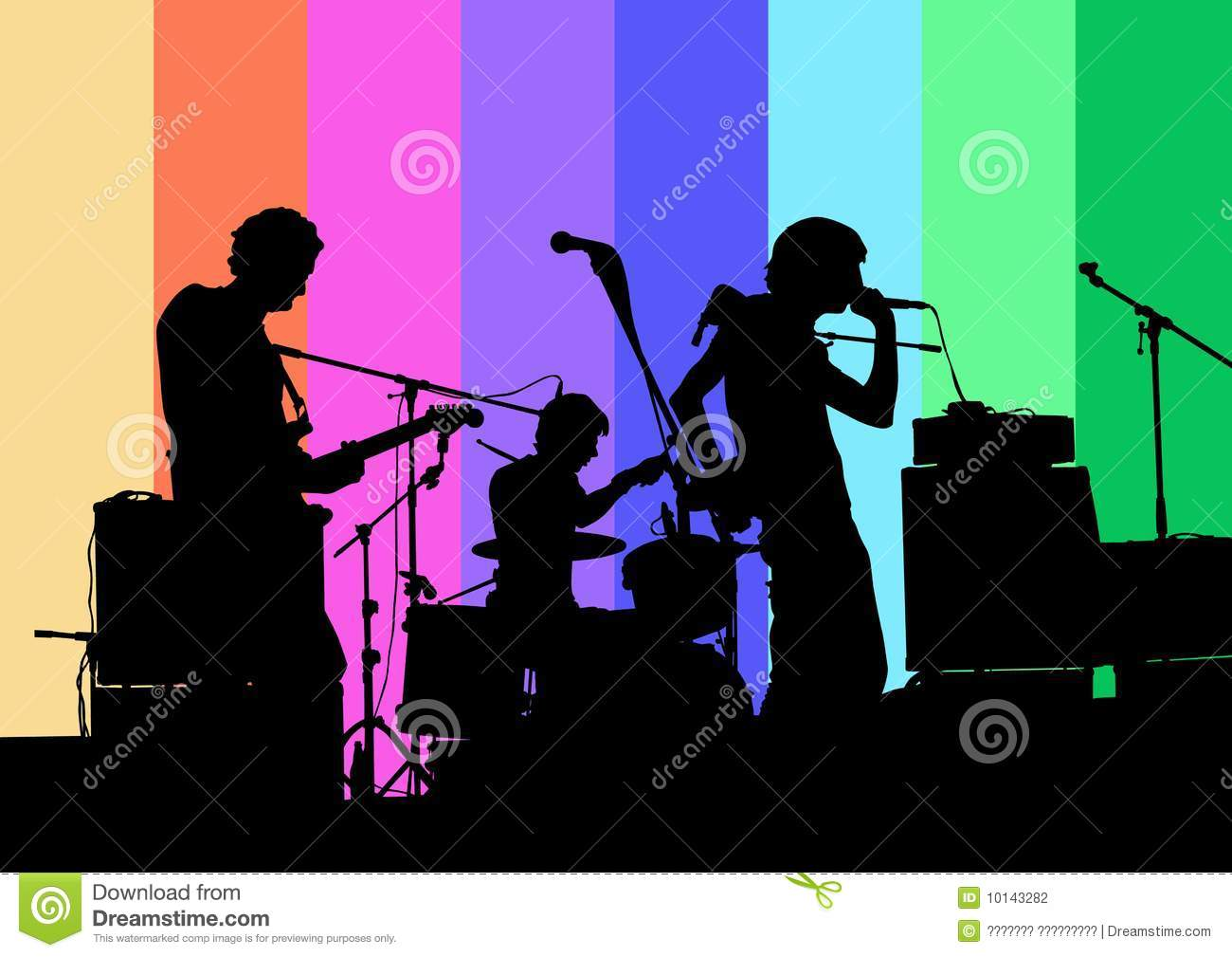 Rock N Roll Band Stock Photography Image 10143282