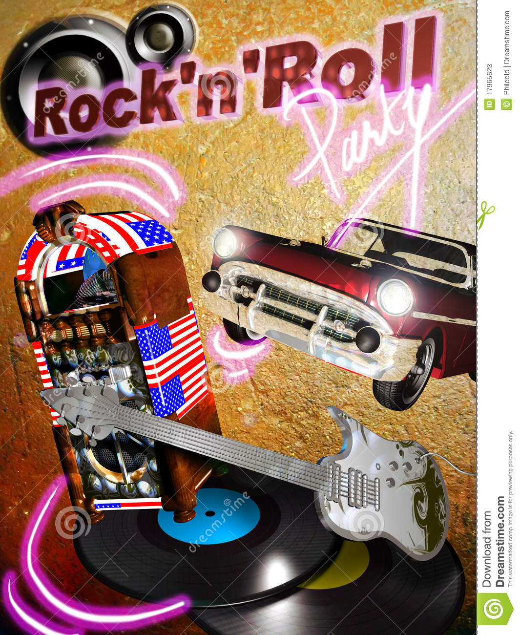 Rock N Roll Party Stock Photos Image 17965623