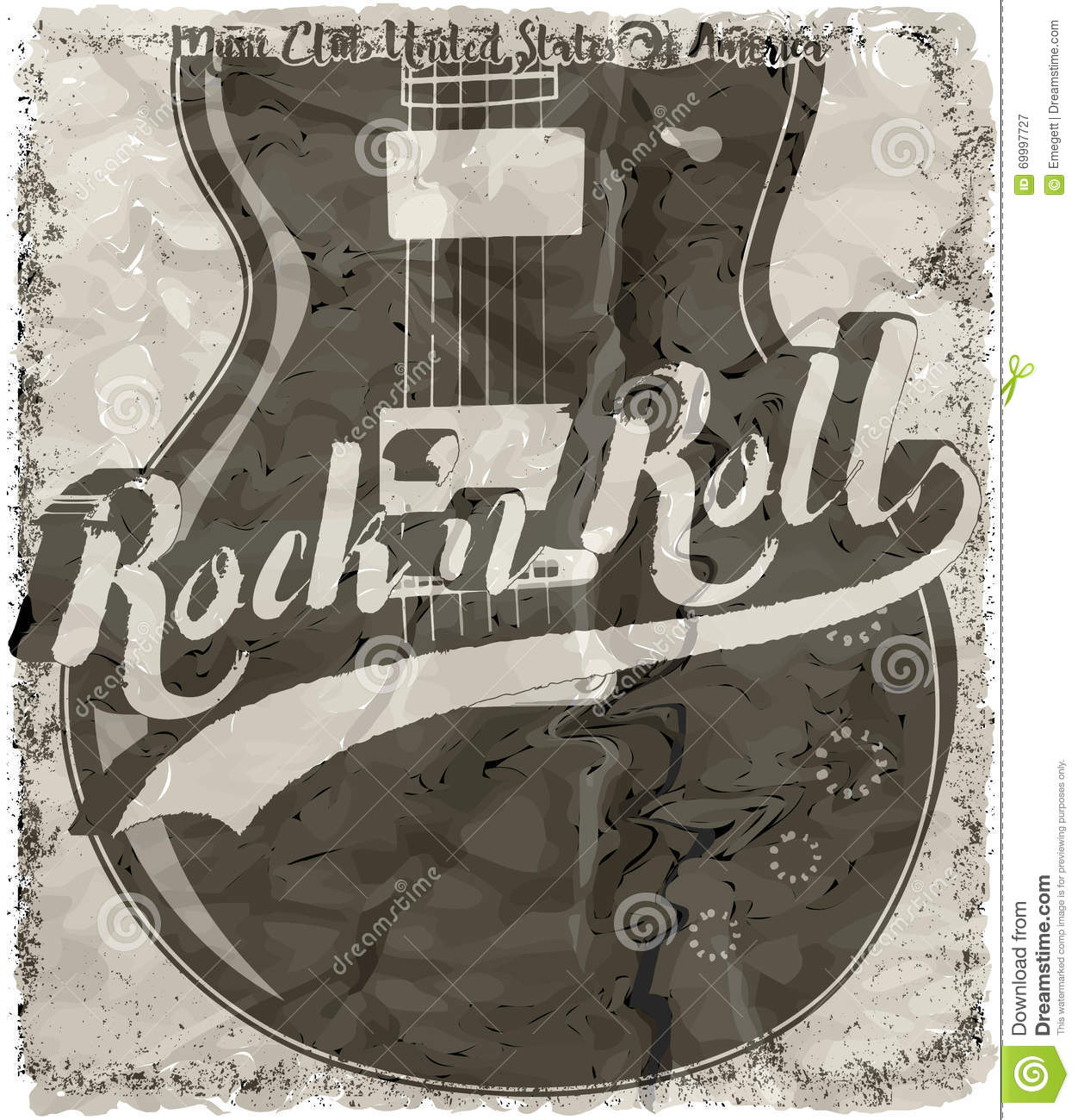 Rock n roll poster design - Art Design Fashion Graphic Guitar New Poster Rock Roll