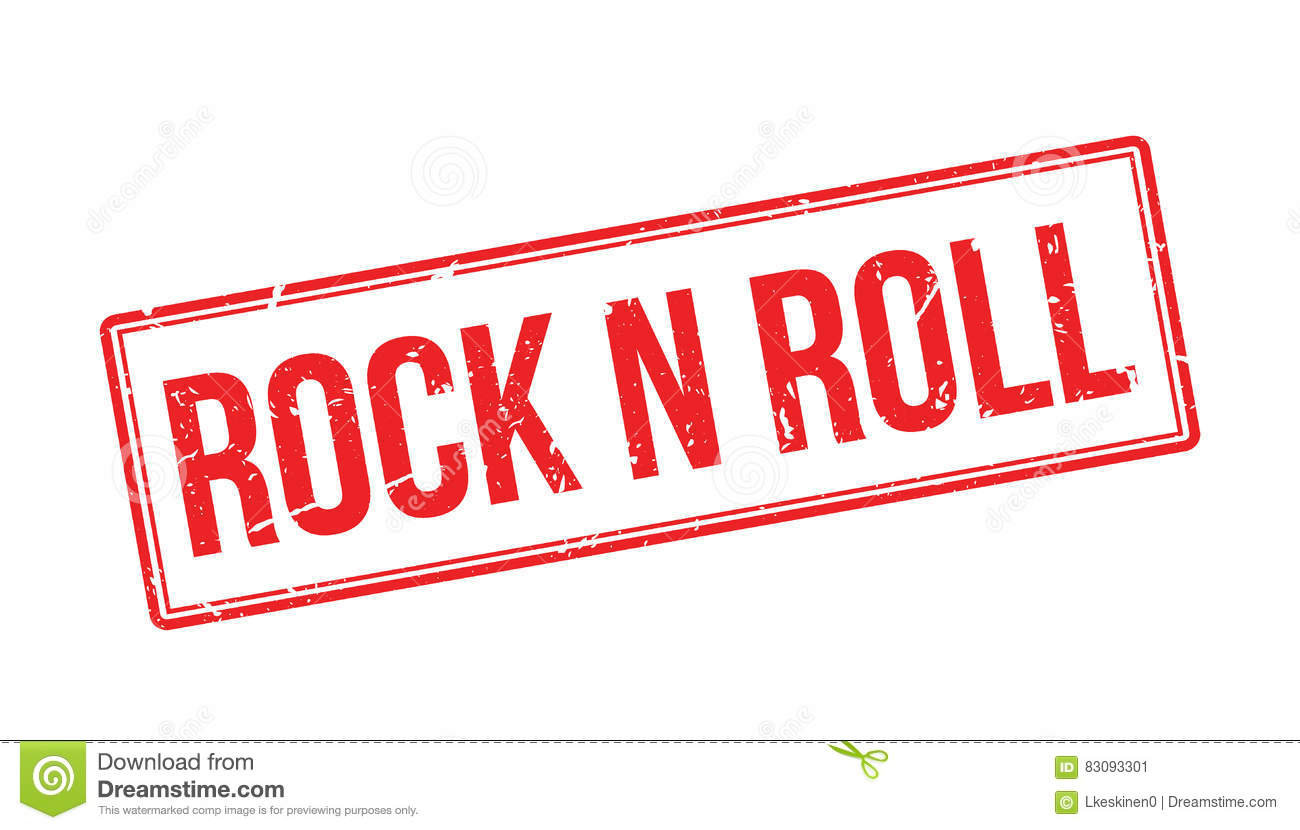rock n roll rubber stamp royalty free stock photo. Black Bedroom Furniture Sets. Home Design Ideas