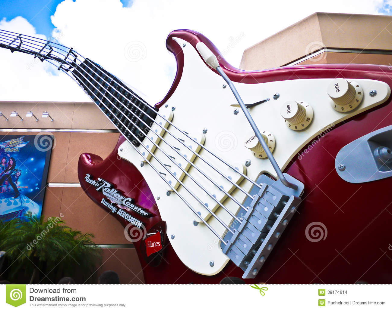 Rock'n Roller Coaster editorial stock image  Image of travel