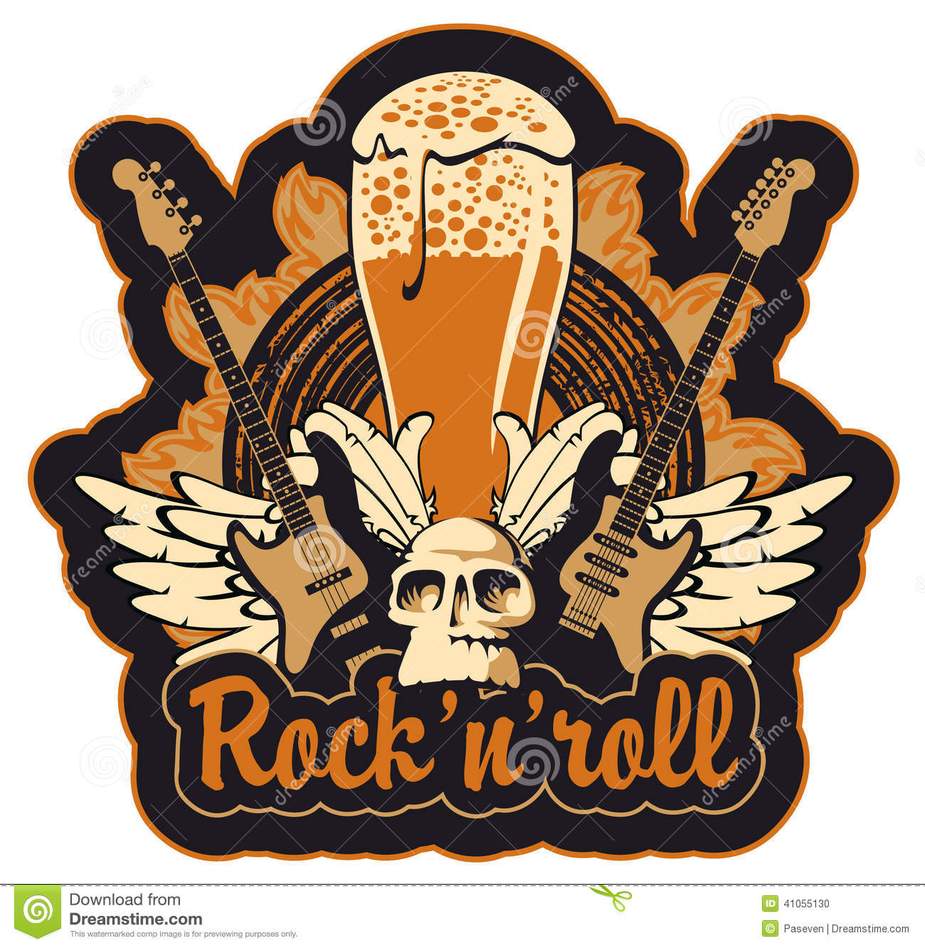 Rock N Toll And Beer Stock Vector Image 41055130