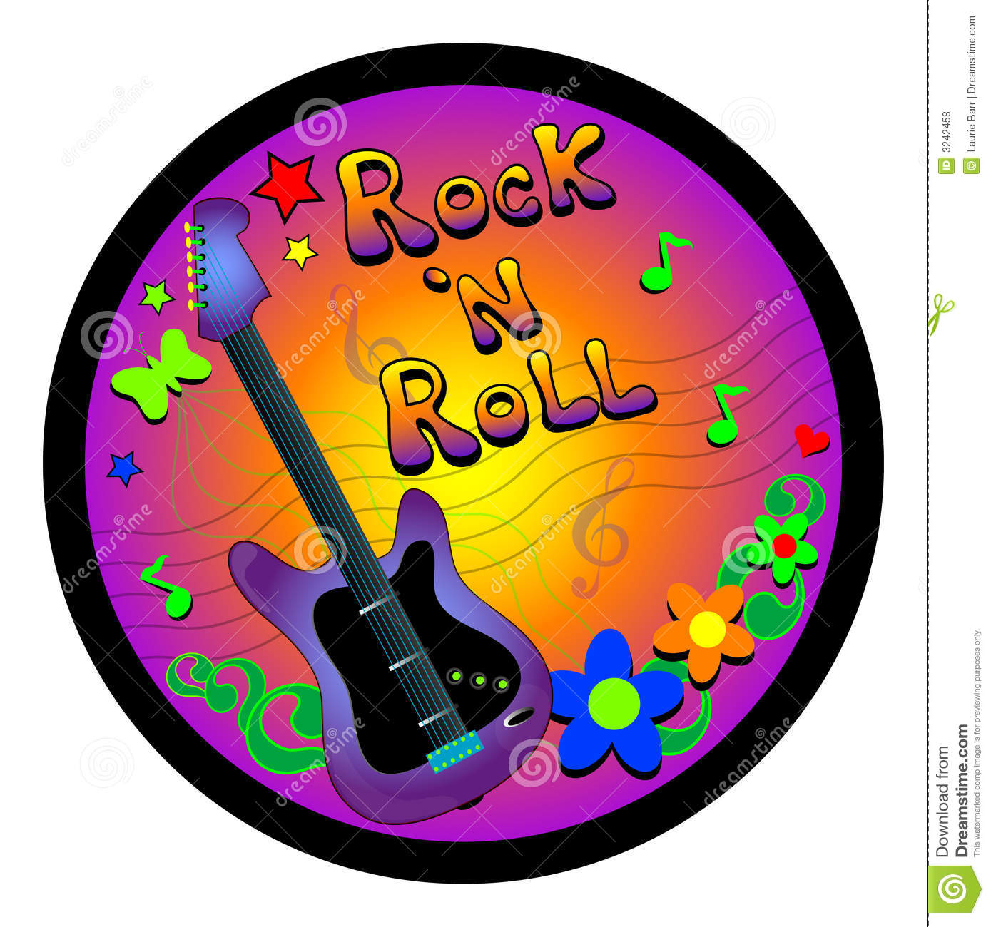 Rock And Roll Graphic Royalty Free Stock Photos - Image: 3242458