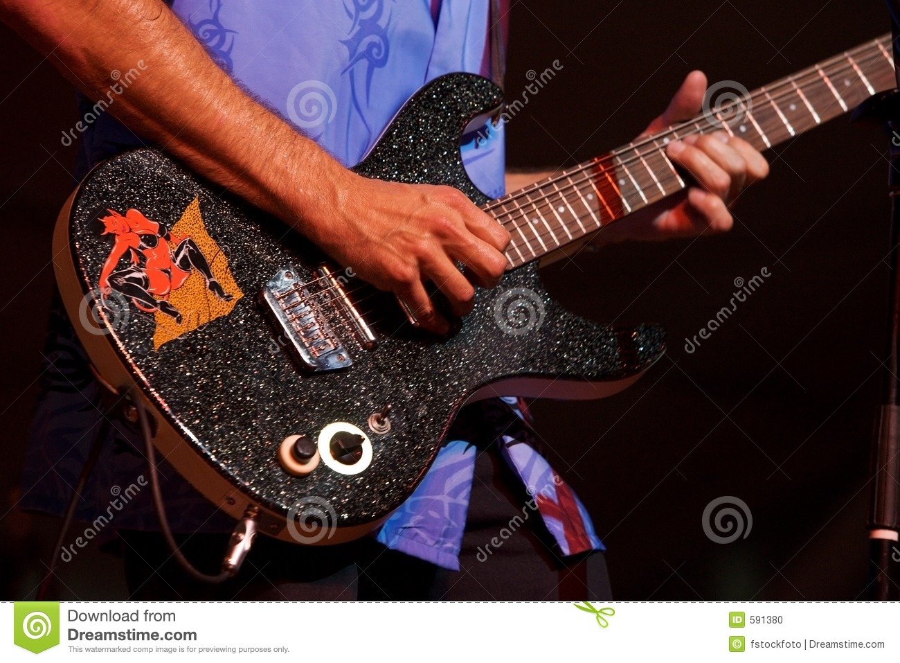 Rock And Roll Guitar Stock Photo - Image: 591380