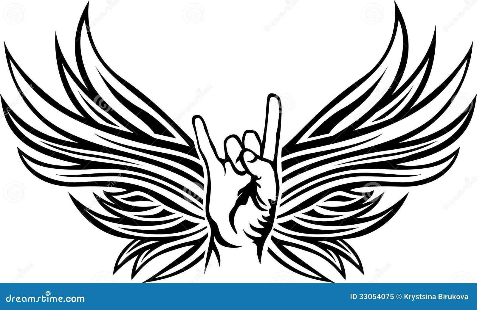Rock And Roll Ręki Znak Ilustracja Wektor Ilustracja