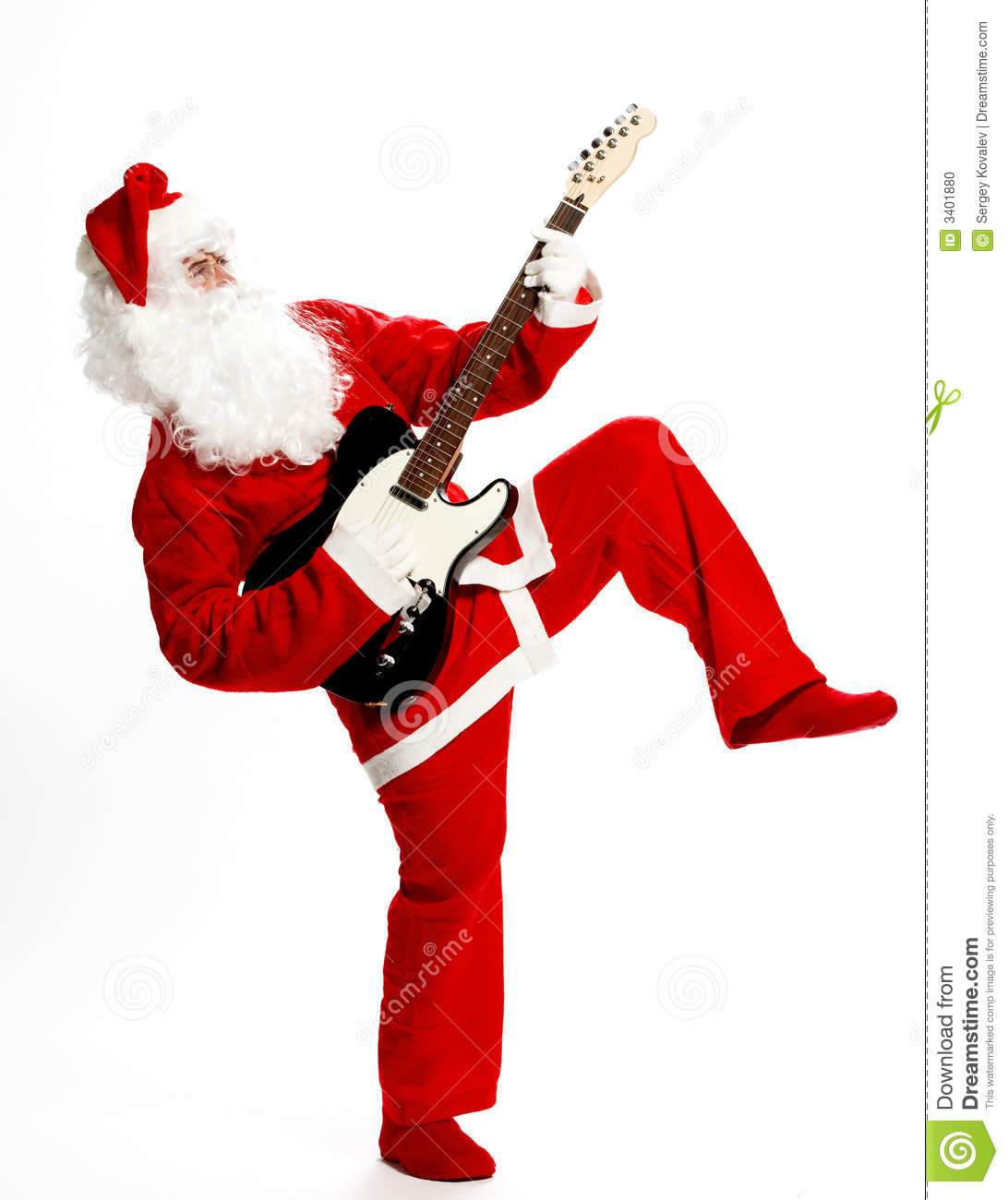 Rock and roll santa stock photo image of background