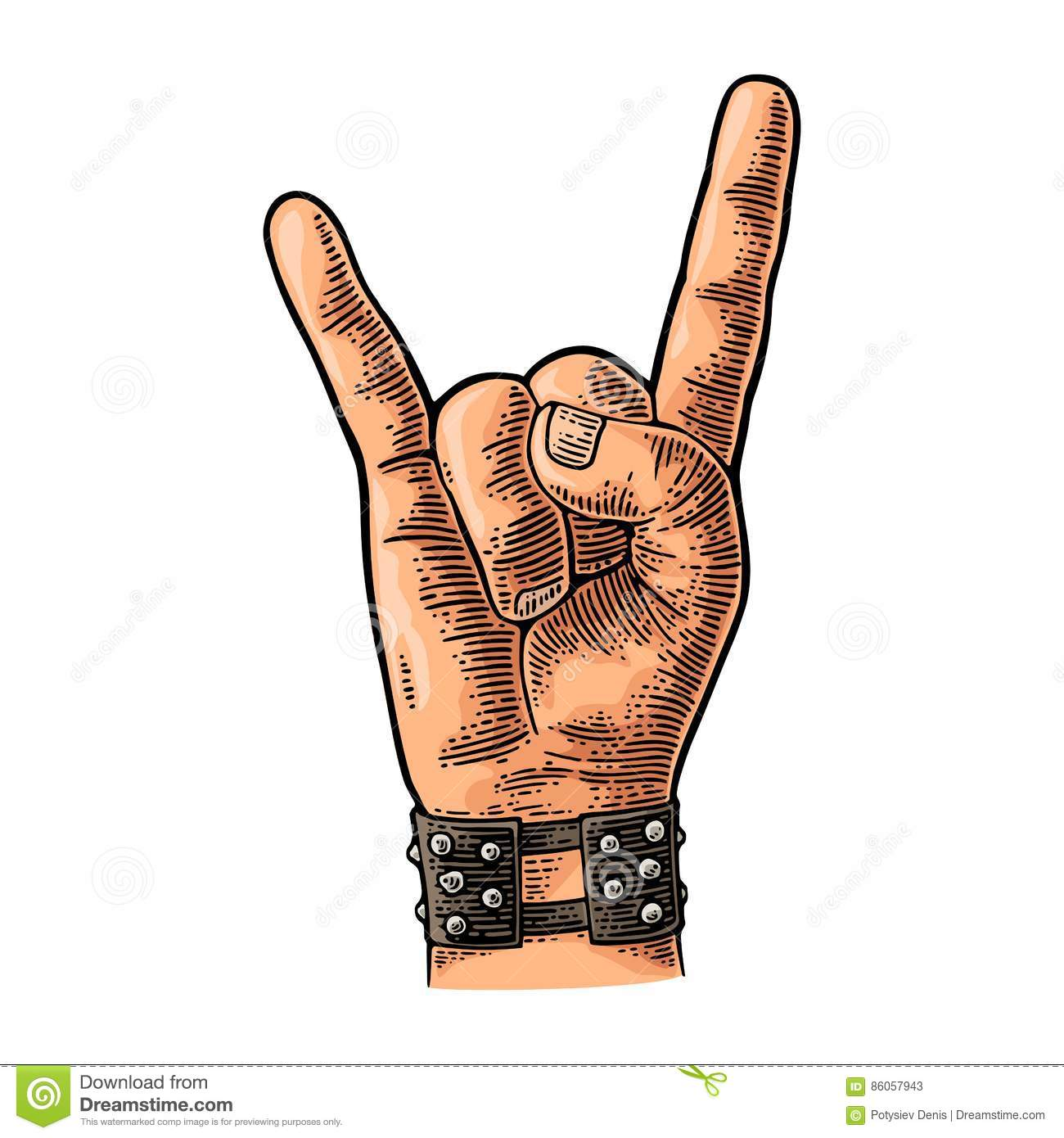 Heavy metal devil horns hand sign stock illustrations 73 heavy rock and roll sign vector black vintage engraved illustration rock and roll sign biocorpaavc Gallery