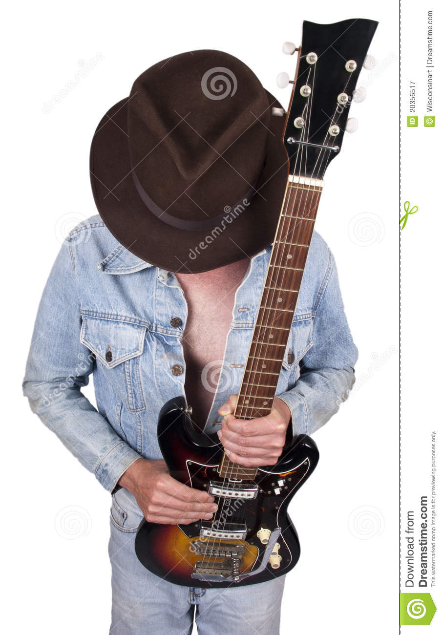 Rock And Roll Star Musician Guitar Player Concept Royalty ...