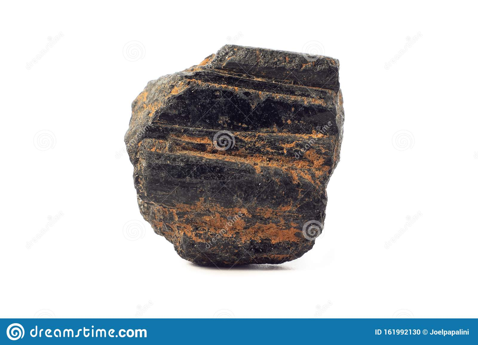 Betere Rock Of Rough Black Tourmaline From China Isolated On A Pure White NF-13