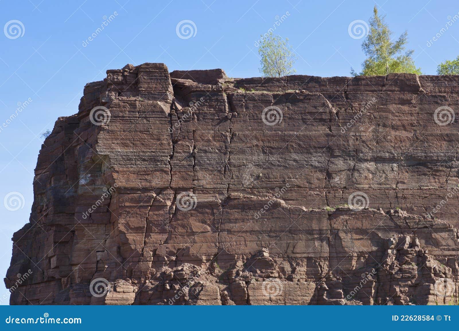 Rock slate in a open pit mine
