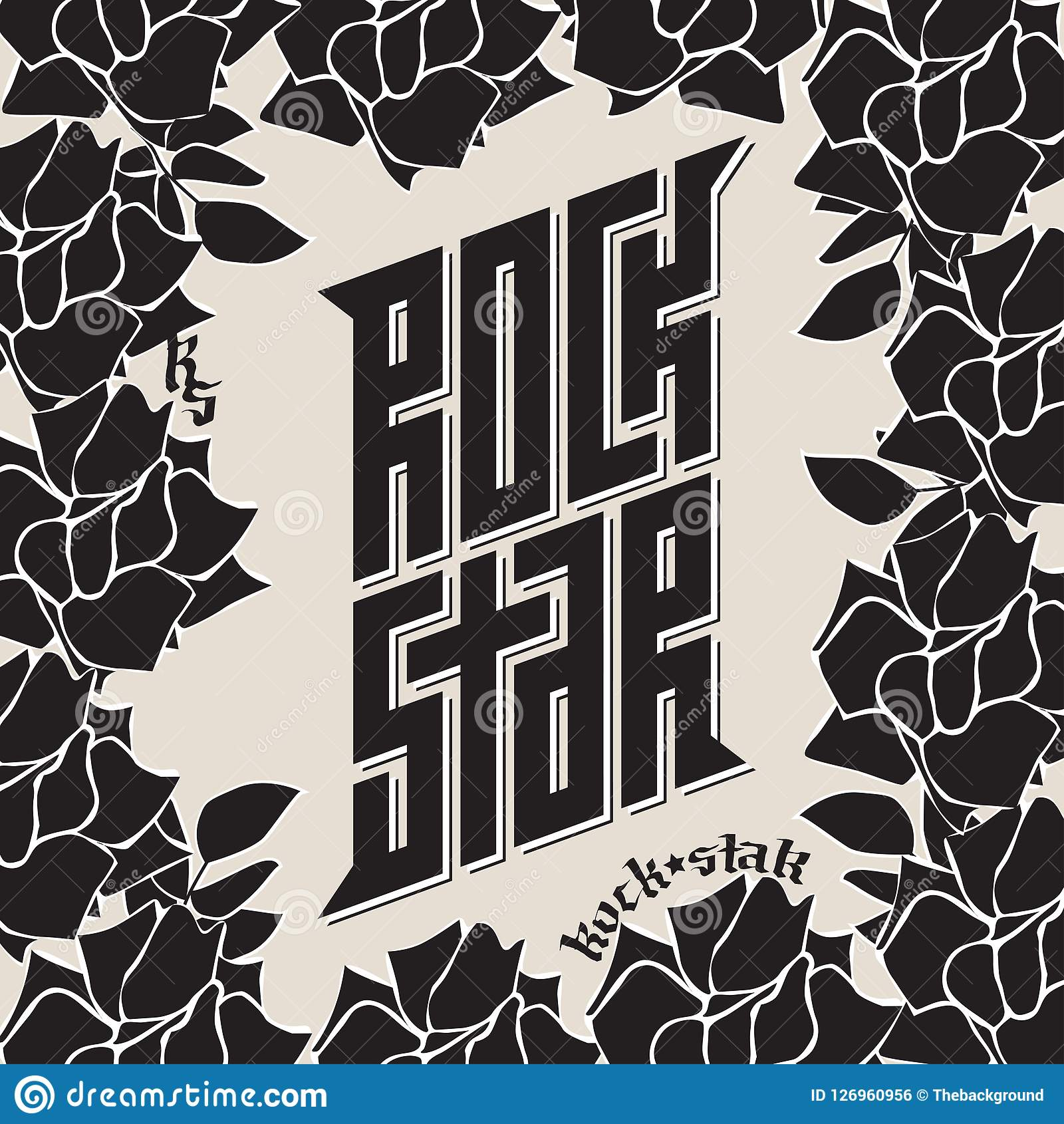 Rock Star Tattoo Music Poster Or Band Label Rockstar T Shirt