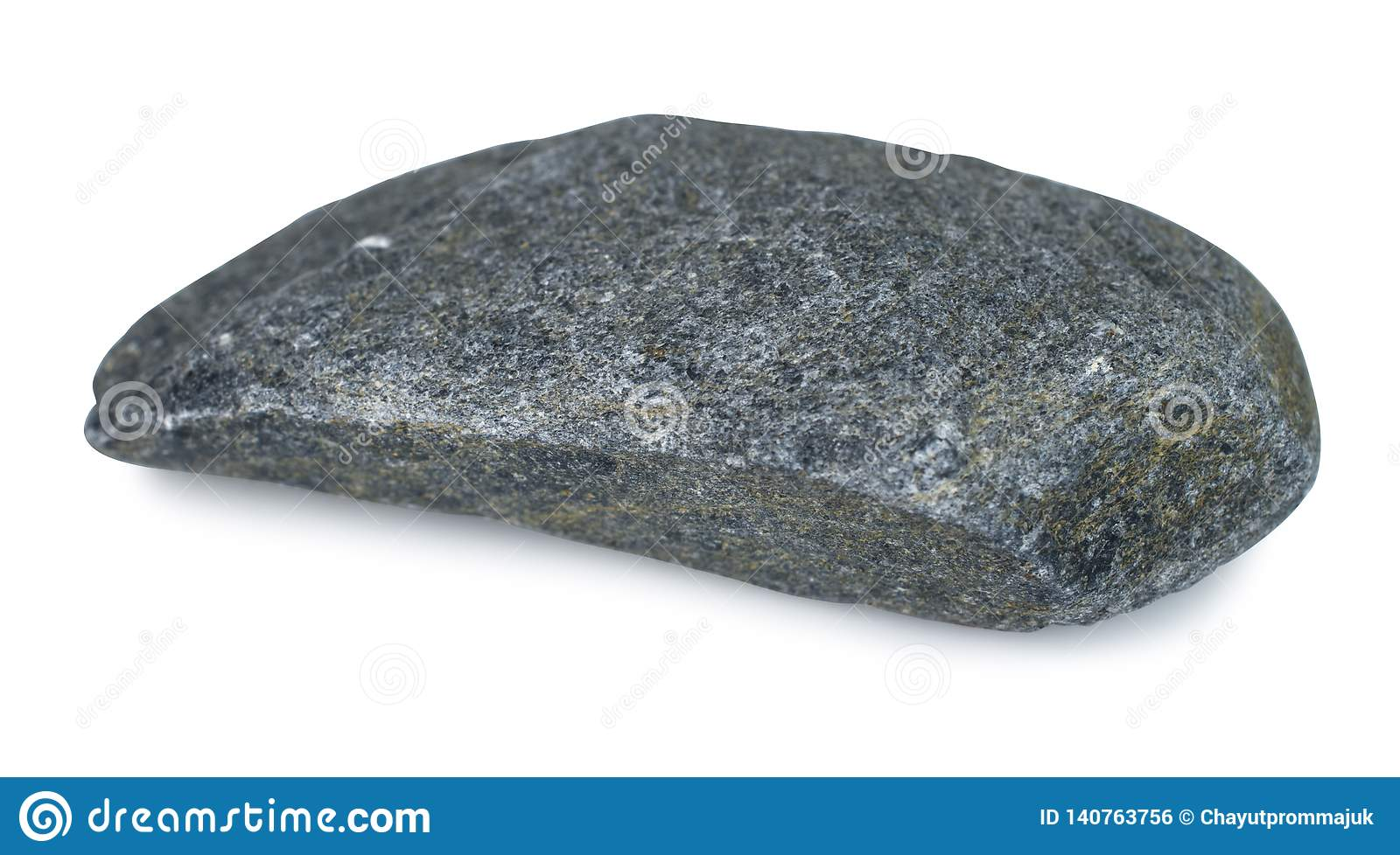 Rock Stone Isolated On White Background With Clipping Path