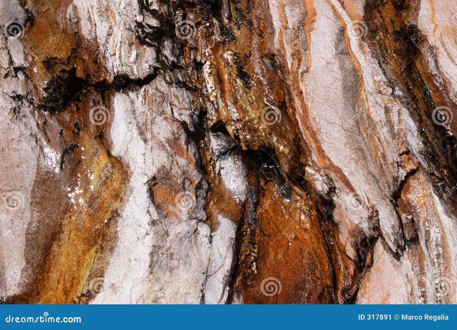 Rock szczerbiąca tło