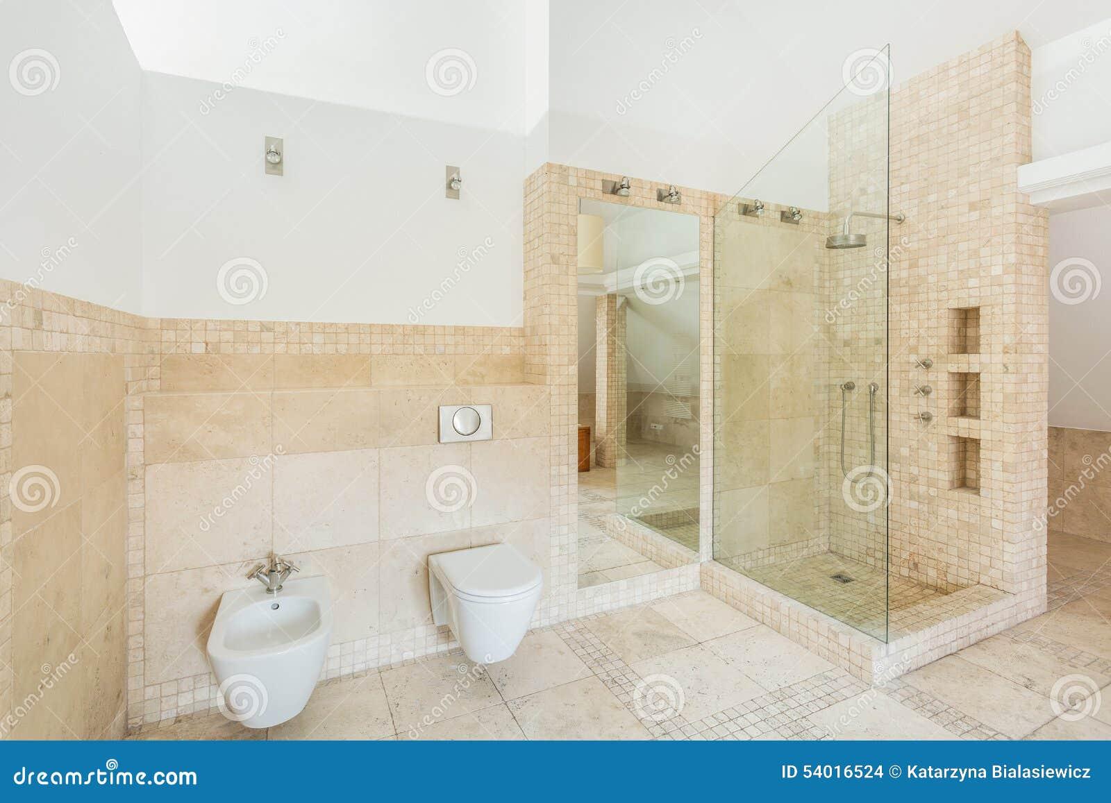 Rock Tiles Bathroom Stock Photo Image Of Exclusive Bathroom 54016524