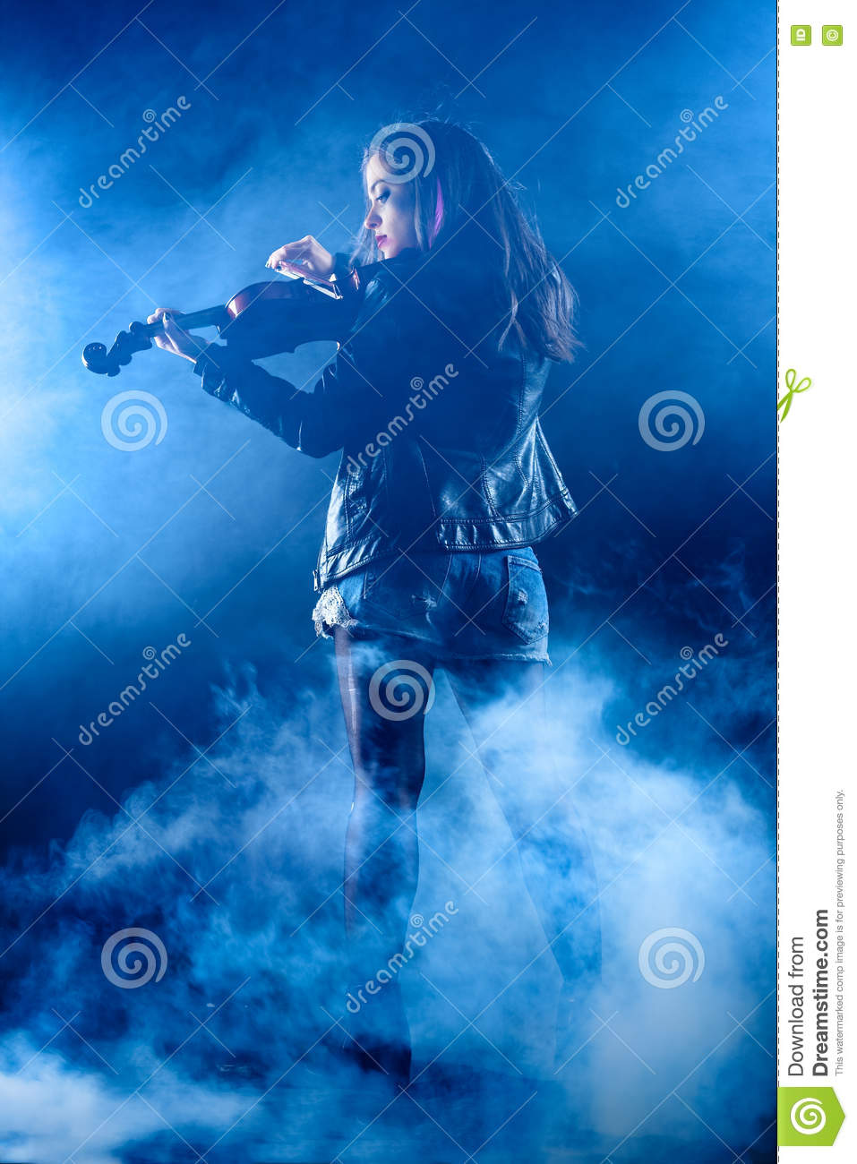 Rock Violinist stock image  Image of punk, musician, space