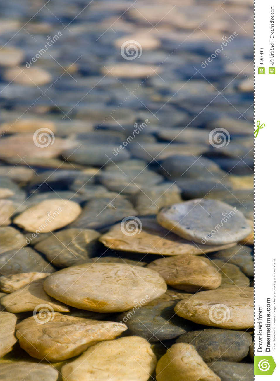 rock in water stock image image of calm pool water 4457419