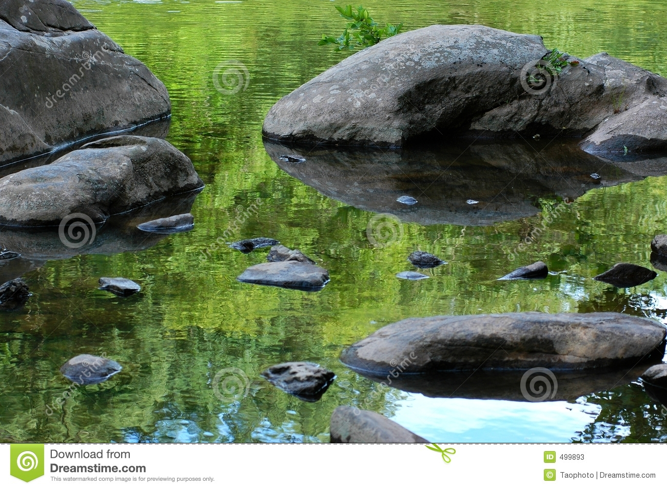 rock water reflection stock image image of rock hard 499893