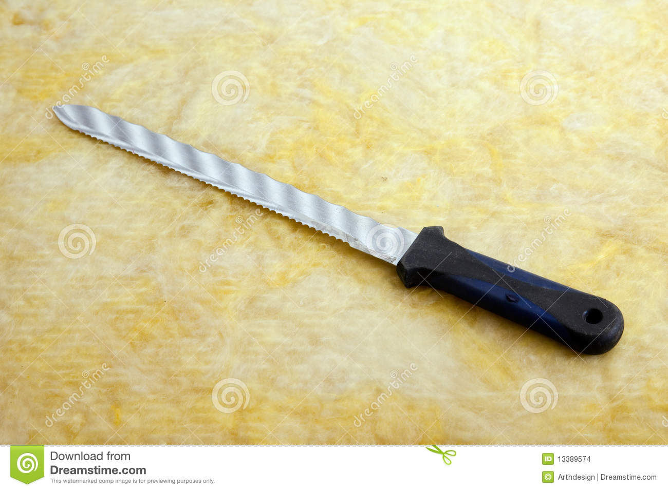 Rock Wool And Insulation Knife Stock Images Image 13389574