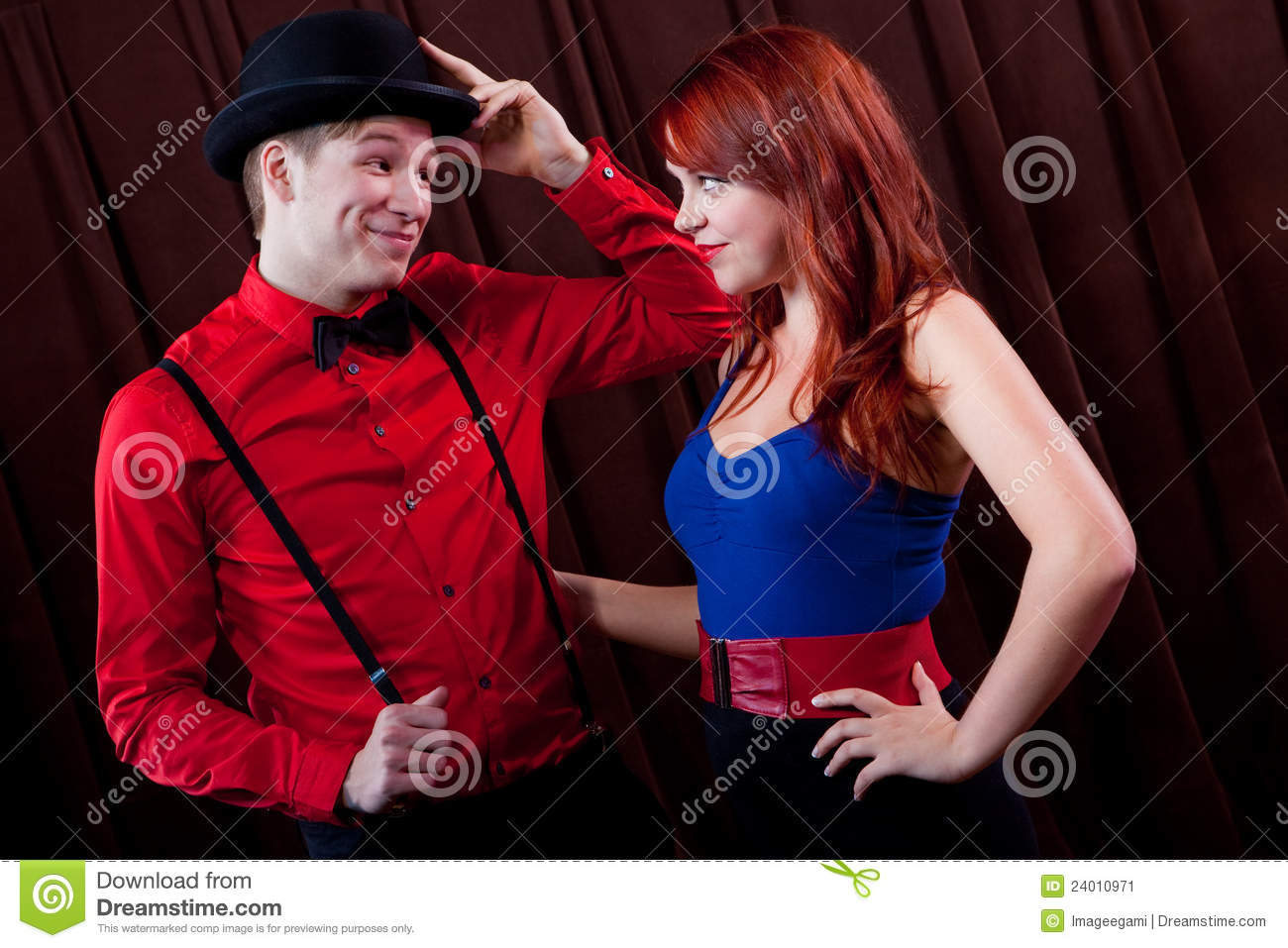Rockabilly Couple Stock Image - Image: 24010971