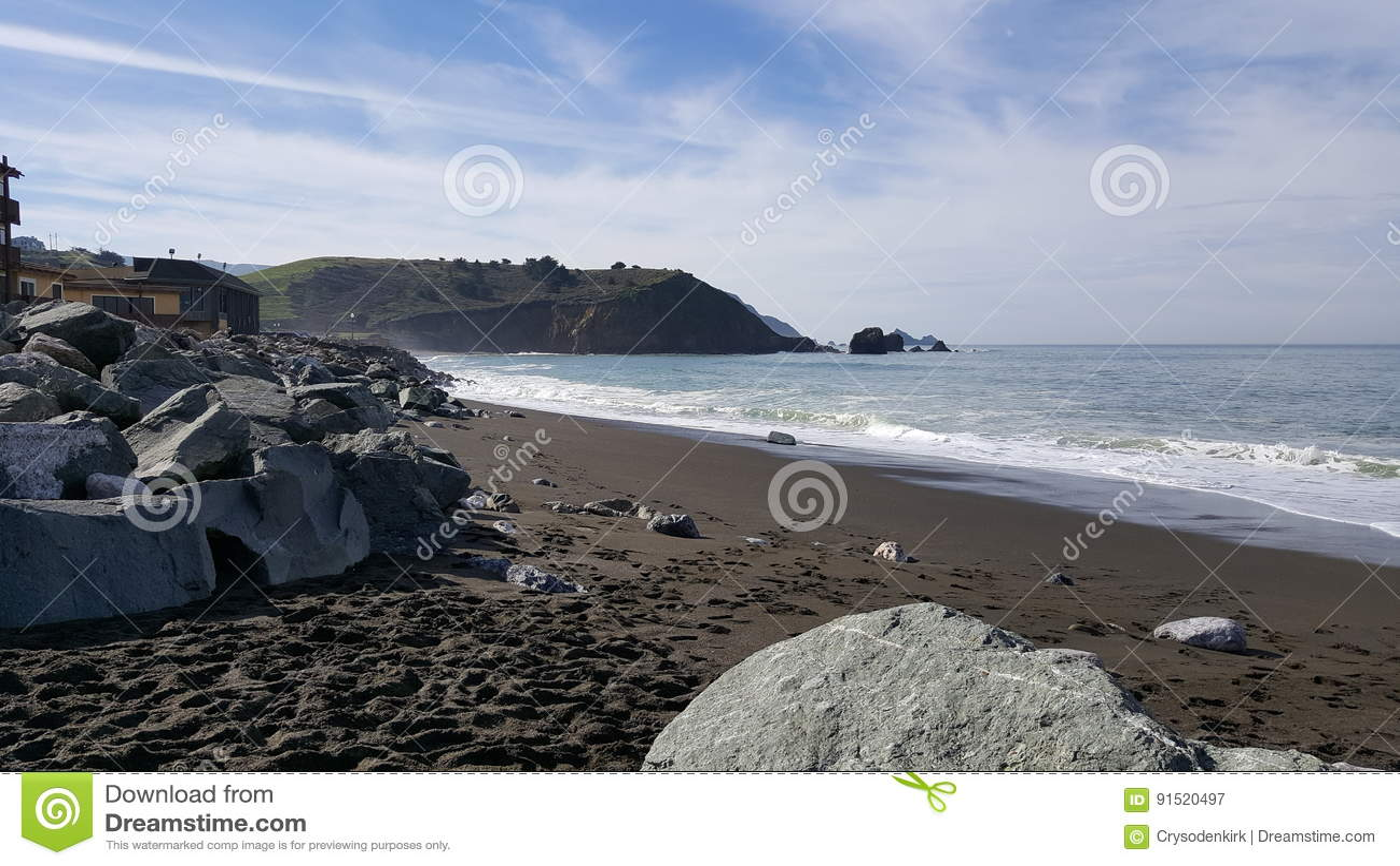 Rockaway strand, Pacifica, Kalifornien