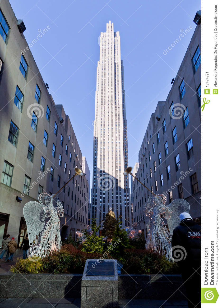 rockefeller center christmas decoration new york editorial photo image 18474791. Black Bedroom Furniture Sets. Home Design Ideas