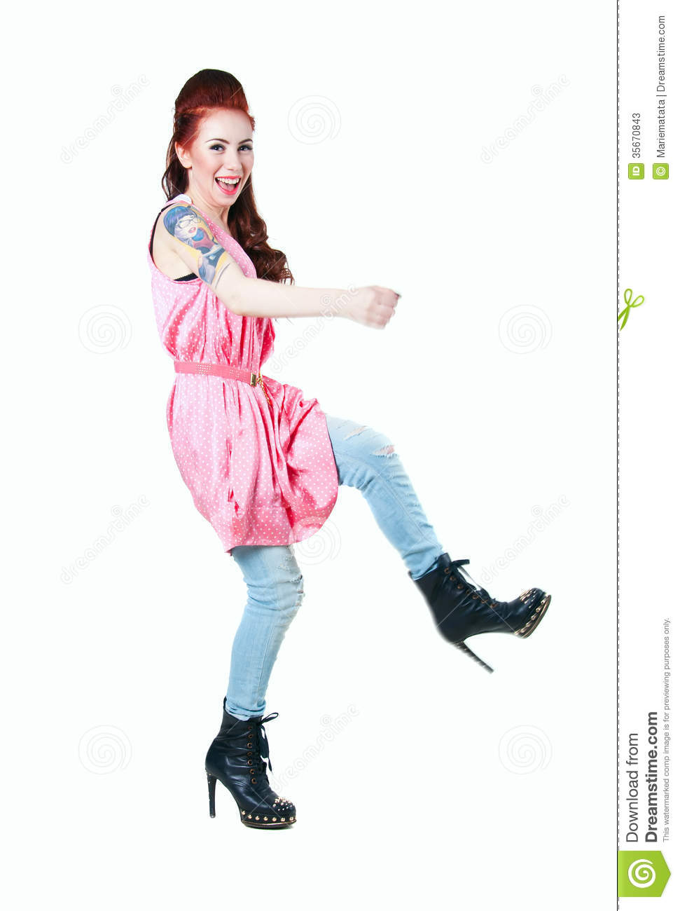 Rocker Girl Stock Photos Image 35670843