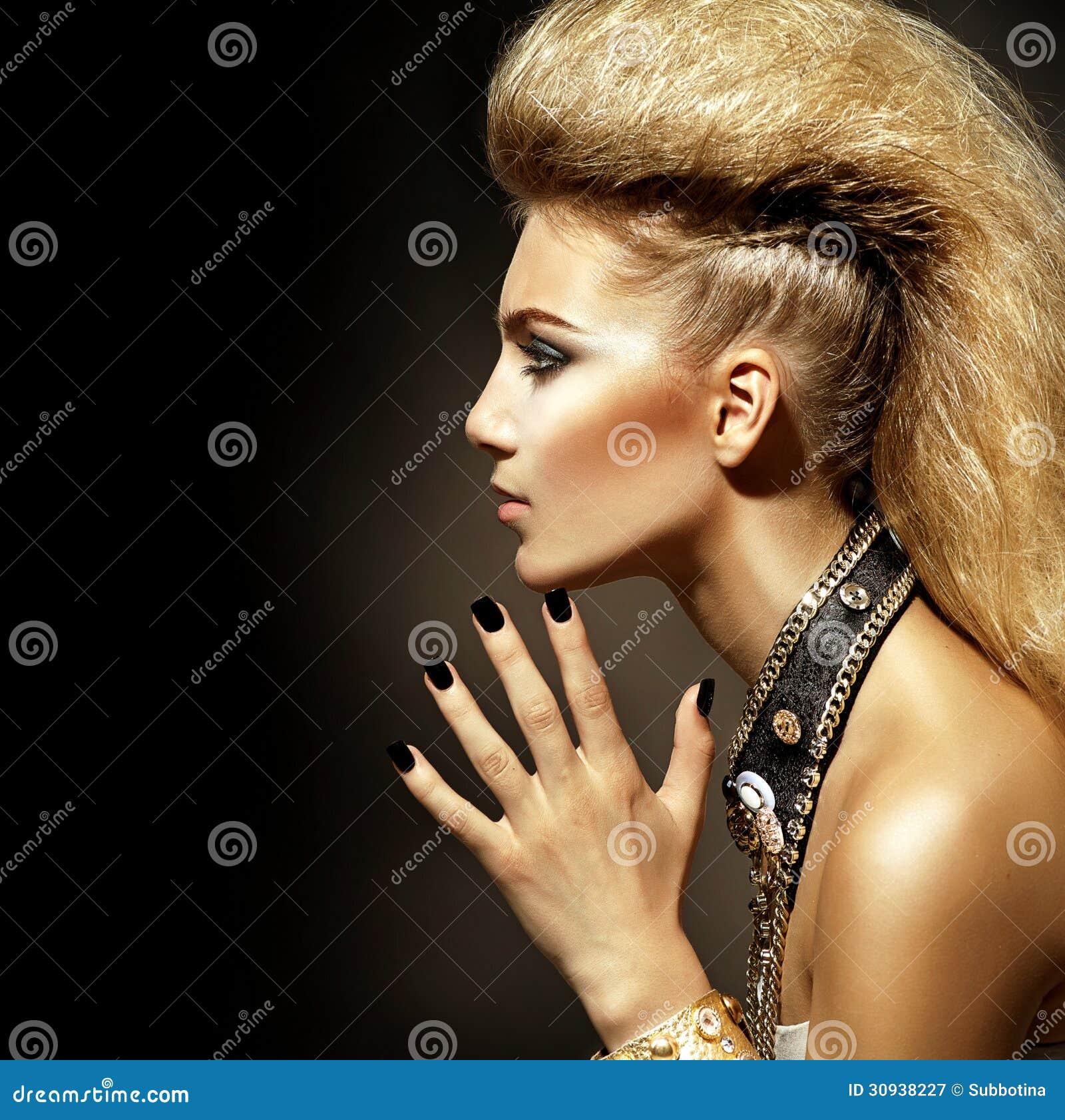 Rocker Style Girl Portrait Royalty Free Stock Photography