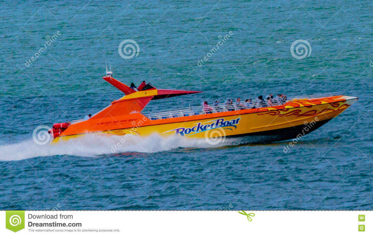 Rocket Boat Editorial Stock Photo Image Of Tourists 75017668