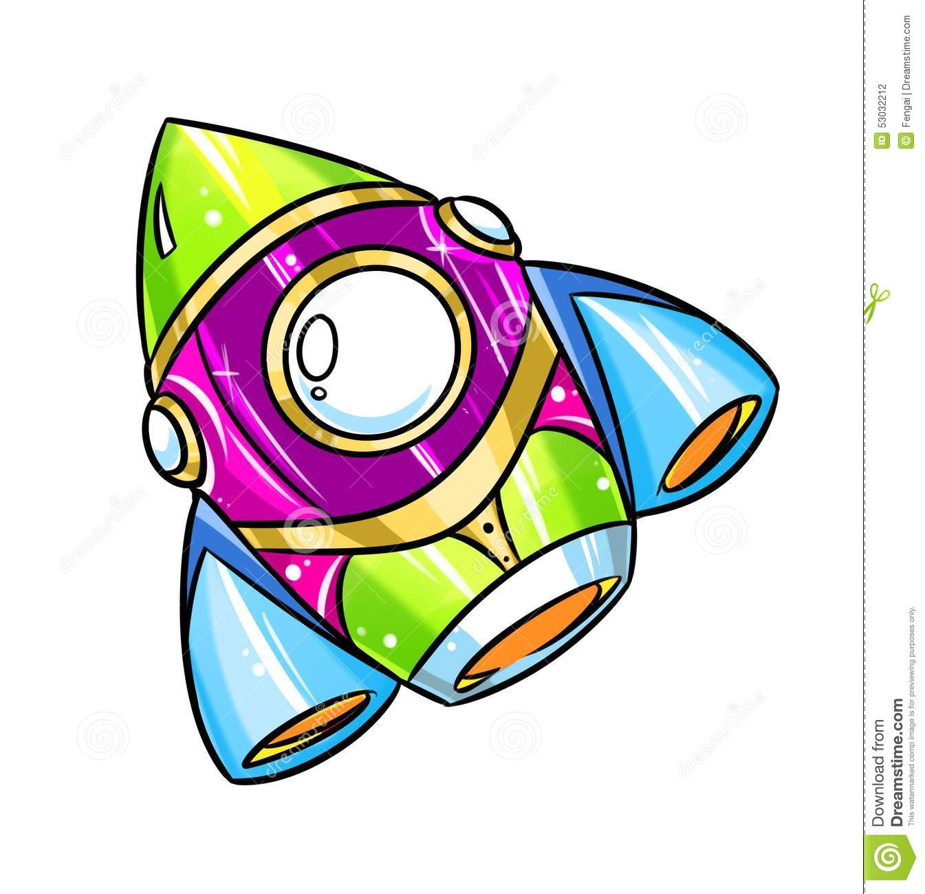 Rocket Cartoon illustration